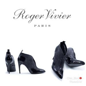 🆕️ Roger Vivier Patent Leather Suede Bootie
